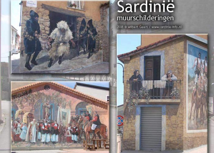 Muurschilderingen Fonni op Sardinië